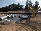 corrugated steel pipe water detention