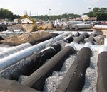 perforated corrugated steel pipe water detentions