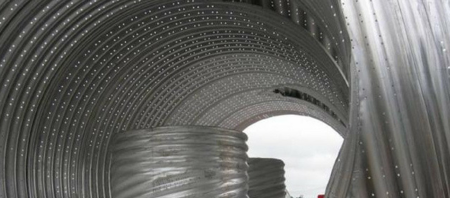 perforated corrugated steel pipe