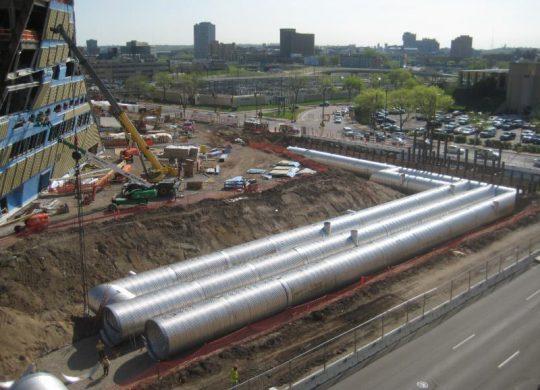U.S. Bank Stadium stormwater storage system