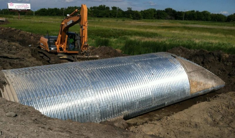 corrugated steel structural plate pipe