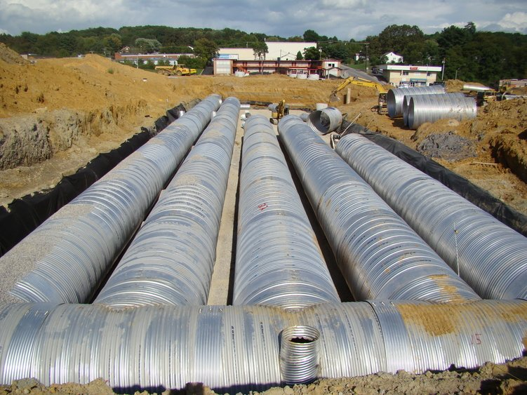 stormwater management detention system