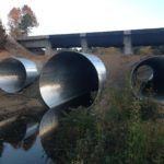 14' diameter, 7 gauge, galvanized multi-plate overflow structure