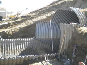 structural plate pipe used for the bridge over killdeer
