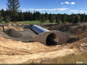 alternative to concrete box culvert structural plate pipe golf cart underpass TrueNorth Steel Rock Creek Golf Club