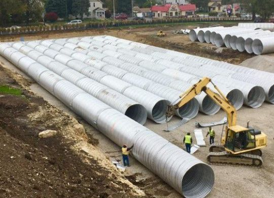 underground detention system, stormwater retention, aluminized underground detention system