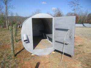 corrugated steel pipe tornado shelter