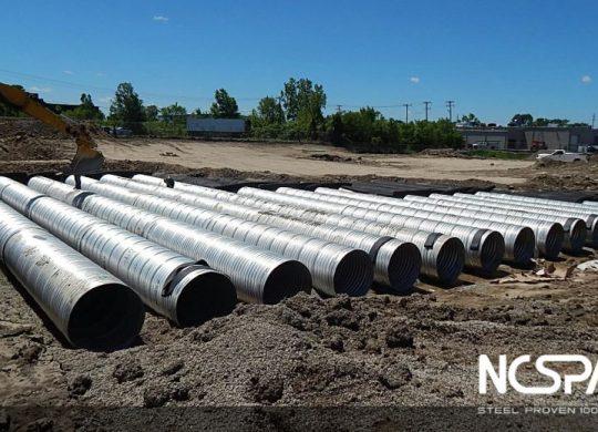 underground detention system Aluminized Steel Type 2 hydrodynamic separator