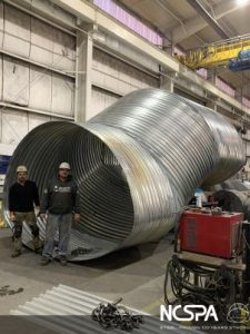 Paws Up Resort Large Corrugated Steel Pipe