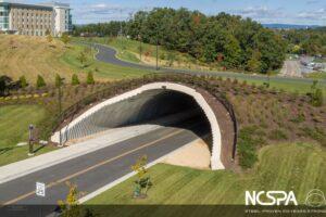 deep corrugated structural plate land bridge pedestrian bridge