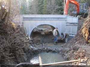 structural steel plate arch fish passage